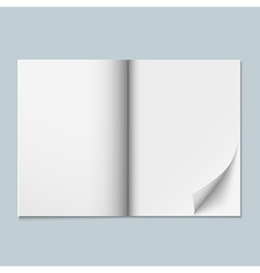 Magazine template with blank pages vector