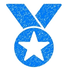 Star Medal Grainy Texture Icon vector image vector image