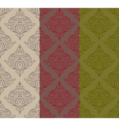 Three tone classic pattern vector image vector image