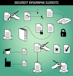 Document Infographic Elements vector image