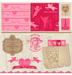 Love Set of design elements vector image vector image