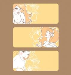 banners women's vector image vector image