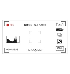 Camera viewfinder focusing screen display with vector