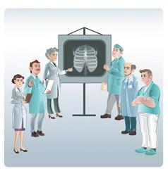 cartoon medicine lecture concept vector image