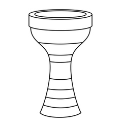 Darbuka musical instrument icon outline style vector image vector image