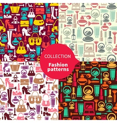 Fashion patterns vector image