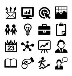 Marketing SEO and Development icons set vector image