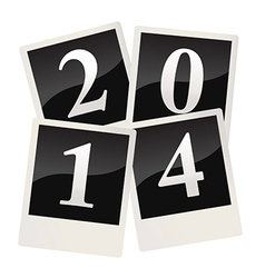 2014 on polaroid snapshots vector image
