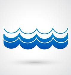 blue wave icon vector image vector image