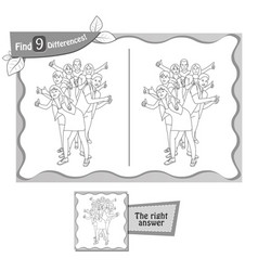 find 9 differences game black youth vector image vector image