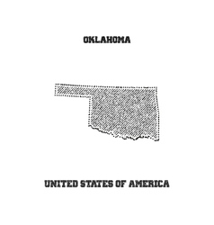Label with map of oklahoma vector image vector image