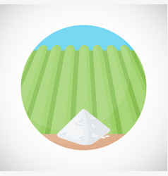 pile of rice flat ico vector image