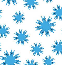 Snowflakes rock hand sign seamless patetrn Rock vector image vector image