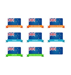 Tour to New Zealand vector image vector image