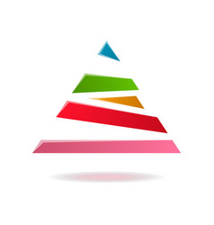 triangle abstract isolated element for logo vector image vector image