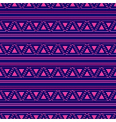 Triangle Aztec Blue Pink Neon Background vector image