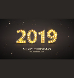 2019 count numbers for greeting card merry vector