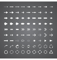 81 arrows vector image