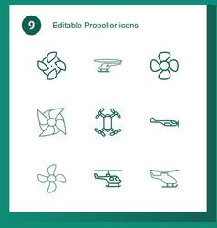 9 propeller icons vector