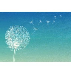 Abstract vintage background with flower dandelion vector