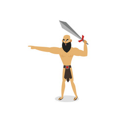 ancient rome gladiator ready to fight with steel vector image
