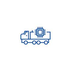 autonomous car line icon concept autonomous car vector image