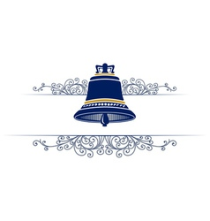 Bell with retro pattern vector