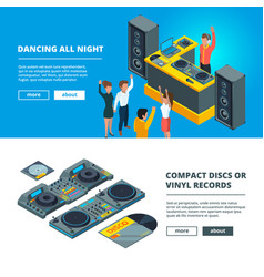 big music party banners vector image