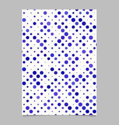 blue abstract dot pattern brochure background vector image