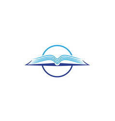 book reading logo and symbols template icons vector image