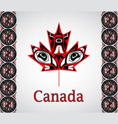 Canada flag national day canada vector