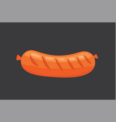 cartoon sausage isolated fresh vector image