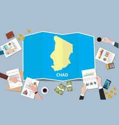 chad africa economy country growth nation team vector image