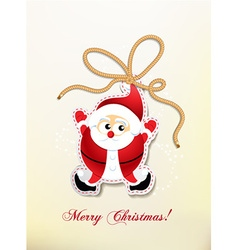 Christmas with santa sticker vector