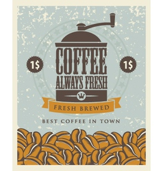 coffee grinder vector image
