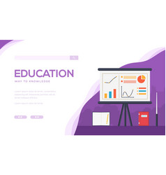 Education landing page template vector