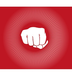 Fist power punch background vector image