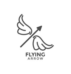 flying arrow graphic design template vector image