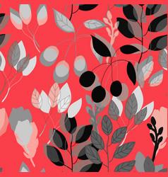 geometrical botanical print seamless pattern vector image