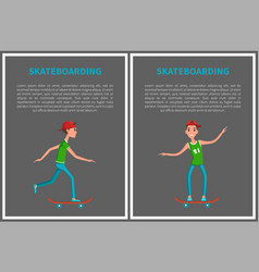 go skateboarding day cards isolated on grey vector image