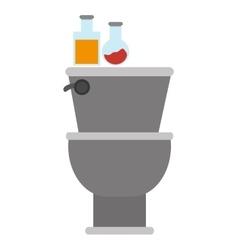 grey toilet icon vector image