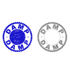 Grunge damp scratched stamps vector
