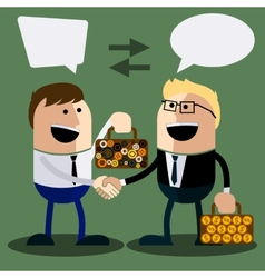 Happy business man make handshake vector image