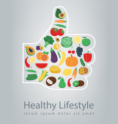 Healthy lifestyle concept we are what we eat vector