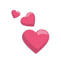 hearts love symbol vector image