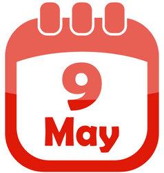 icon may 9 calendar vector image vector image