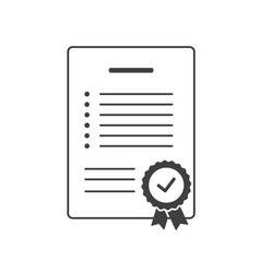 In compliance icon checklist sign certified vector