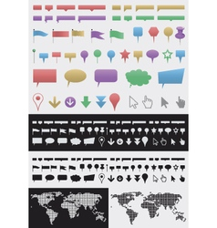 Infographic pointer set vector