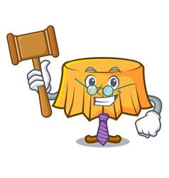 Judge table cloth mascot cartoon vector