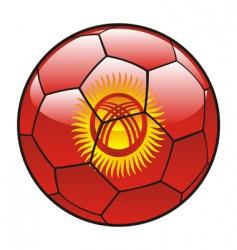 Kyrgyzstan flag on soccer ball vector